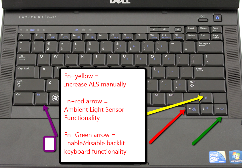 Dell backlit keyboard + Ambient Light Sensor | Onarol\u0027s T$chlog